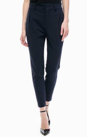 Однотонные укороченные брюки DRYKORN. Цвет: синий