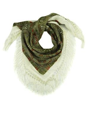 Платок Zalta. Цвет: зеленый, белый, красный, оливковый