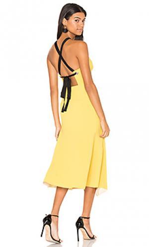 Платье из апрона breakers Rebecca Vallance. Цвет: горчичный
