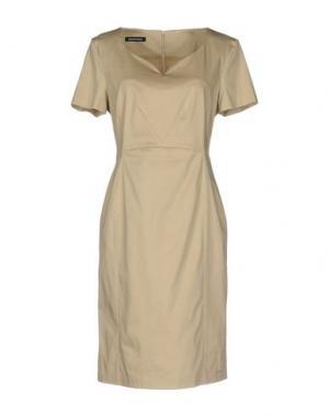 Платье до колена EMISPHERE. Цвет: бежевый