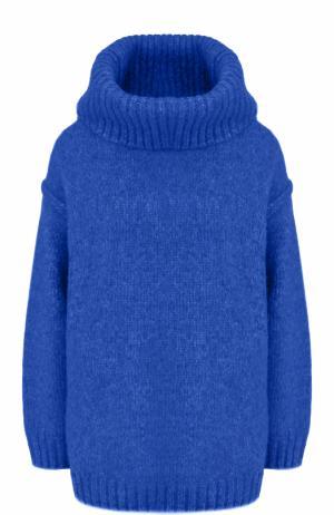Шерстяной свитер с объемным воротником Acne Studios. Цвет: синий