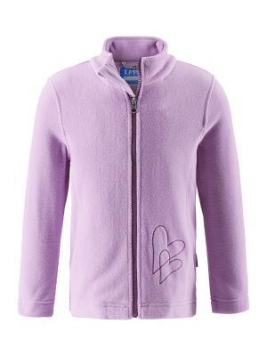 Куртка флисовая Lassie by Reima. Цвет: розовый