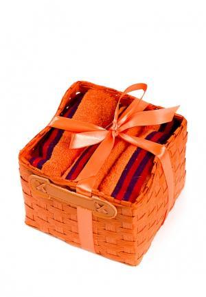 Комплект полотенец 3 шт. La Pastel. Цвет: оранжевый