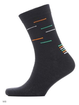 Носки, 3 пары LEVADA. Цвет: черный, оранжевый, светло-зеленый