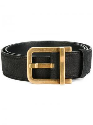 Ремень с золотистой пряжкой Dolce & Gabbana. Цвет: чёрный