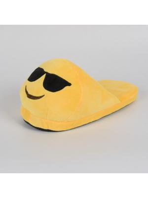 Тапки-смайлики Крутой открытые SOXshop. Цвет: желтый