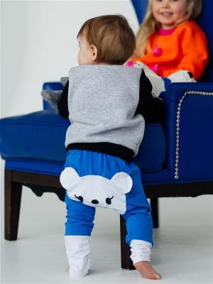 Штанишки для подгузников Мишка синий Yuumi. Цвет: синий