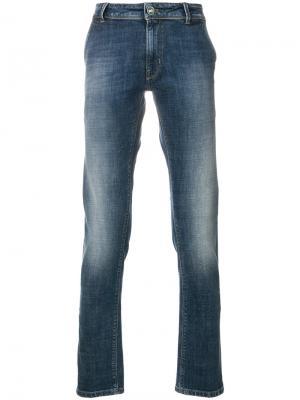 Выбеленные джинсы кроя слим Pt05. Цвет: синий
