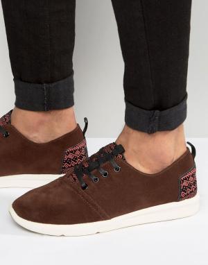 Toms Замшевые кроссовки Viaje. Цвет: коричневый