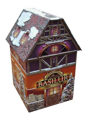 Чай Basilur Рождественский домик Christmas House. Цвет: темно-серый, фиолетовый