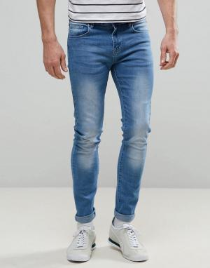 Always Rare Светлые супероблегающие джинсы Dexter. Цвет: синий