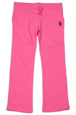 Брюки спортивные U.S. Polo Assn.. Цвет: 950 розовый