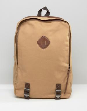Racing Green Парусиновый рюкзак с отделкой из искусственной кожи. Цвет: рыжий