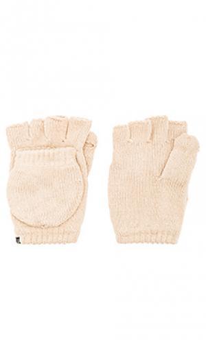 Перчатки Plush. Цвет: беж
