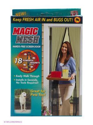 Сетка магнитная для дверей от насекомых МАСКИТОФФ BRADEX. Цвет: черный