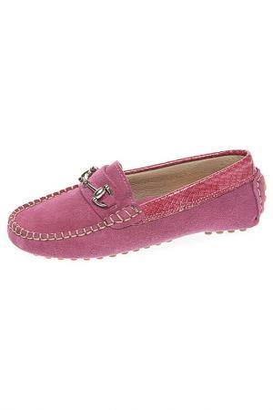 Мокасины TNY. Цвет: розовый