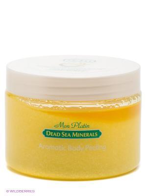 Ароматический пилинг для тела с экстрактом ванили и кокоса Mon Platin DSM. Цвет: желтый