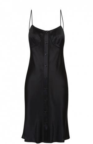 Шелковое платье-комбинация с открытой спиной Rag&Bone. Цвет: черный
