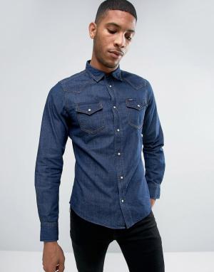 Diesel Узкая джинсовая рубашка NEW-SONORA-E. Цвет: синий