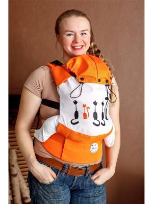 Эргономичный рюкзак Рыжий кот Sling Me. Цвет: оранжевый