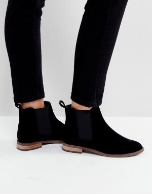 Miss KG Ботинки челси на плоской подошве. Цвет: черный