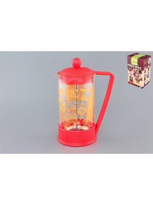 Чайник с поршнем Viva - London Elan Gallery. Цвет: красный, желтый, прозрачный