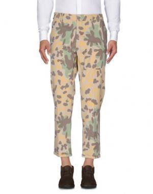 Повседневные брюки THE EDITOR. Цвет: бежевый
