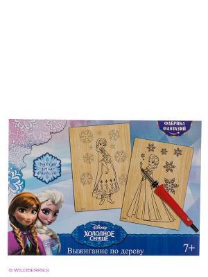 Набор для выжигания с прибором Disney Холодное Сердце: Эльза и Анна Фабрика Фантазий. Цвет: голубой