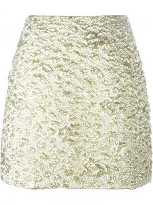 Короткая юбка Kenzo. Цвет: металлический