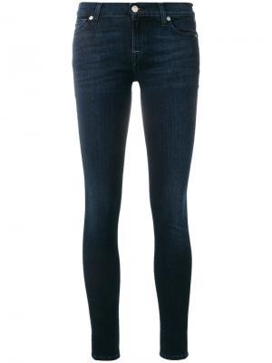 Классические джинсы скинни 7 For All Mankind. Цвет: синий