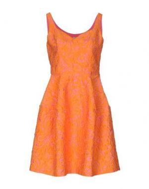 Короткое платье PINKO. Цвет: оранжевый