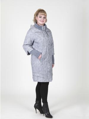 Пальто VIKO. Цвет: светло-серый, светло-коричневый