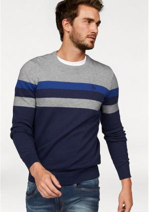 Пуловер Rhode Island. Цвет: серый/синий в полоску