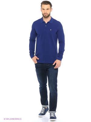Лонгслив-Поло United Colors of Benetton. Цвет: темно-синий, темно-фиолетовый