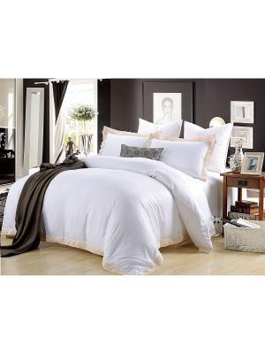 Комплект постельного белья, Асти, Семейный KAZANOV.A.. Цвет: молочный