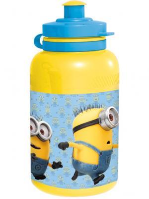 Бутылка пластиковая (спортивная, 400 мл). Миньоны Stor. Цвет: голубой, желтый