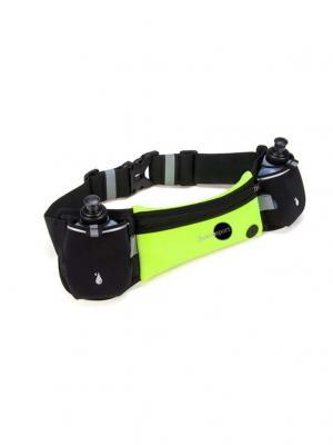 Пояс для бега Multifunction Double Kettle Green Hoco. Цвет: черный, салатовый