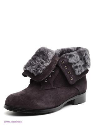 Ботинки Moda Donna. Цвет: темно-коричневый
