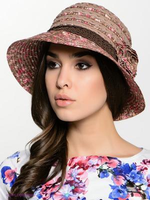 Шляпа FOMAS. Цвет: бежевый, сиреневый