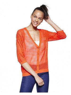 Кардиган United Colors of Benetton. Цвет: бежевый, бледно-розовый, оранжевый