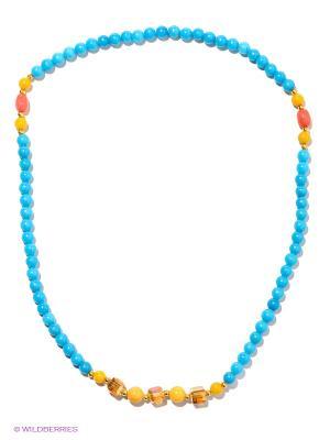 Браслет-колье Bijoux Land. Цвет: голубой, желтый
