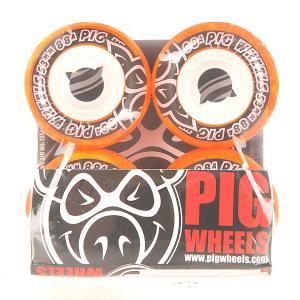 Колеса для скейтборда  Street Cruisers New Orange 88A 53 mm Pig. Цвет: оранжевый