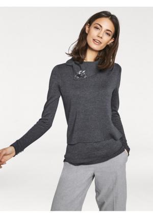 Пуловер 2 в 1 RICK CARDONA by Heine. Цвет: серый, черный
