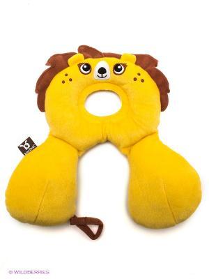Подголовник 2в1 Лев BenBat. Цвет: желтый, коричневый