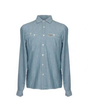 Джинсовая рубашка ROŸ ROGER'S RUGGED. Цвет: синий