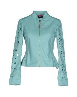 Куртка LUPATTELLI. Цвет: бирюзовый