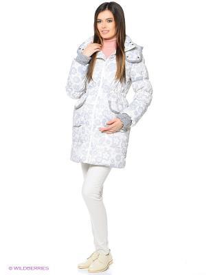 Куртка Mum`s Era. Цвет: молочный, светло-серый