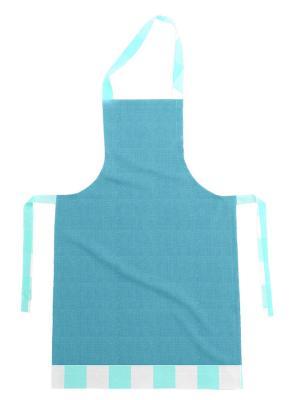 Фартук хлопок, комбинированный DEKORTEX. Цвет: бирюзовый, светло-голубой