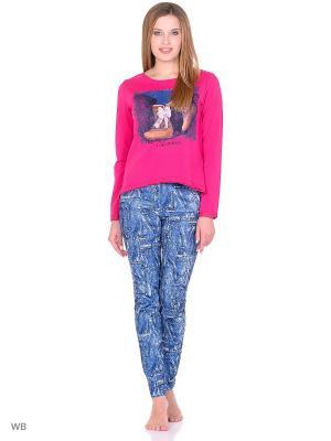 Комплект домашней одежды ( кофта, брюки) HomeLike. Цвет: синий, малиновый