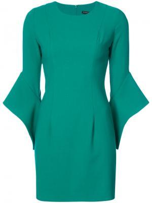 Платье с расклешенными рукавами Black Halo. Цвет: зелёный